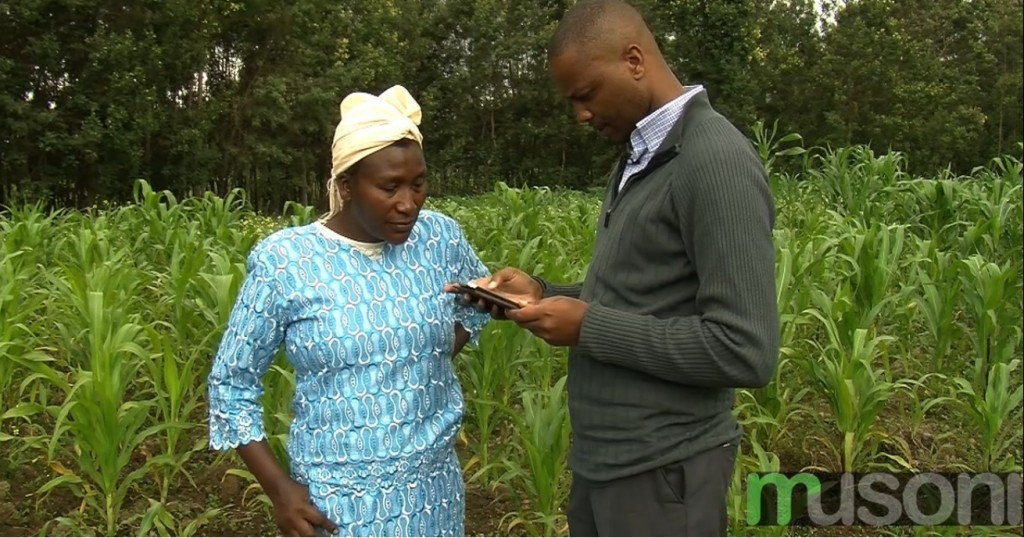 Loan Officer registering a client using the Musoni App